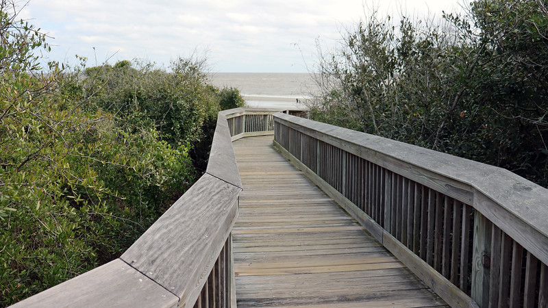 Another curve in the walkway and the beach is finally in sight.