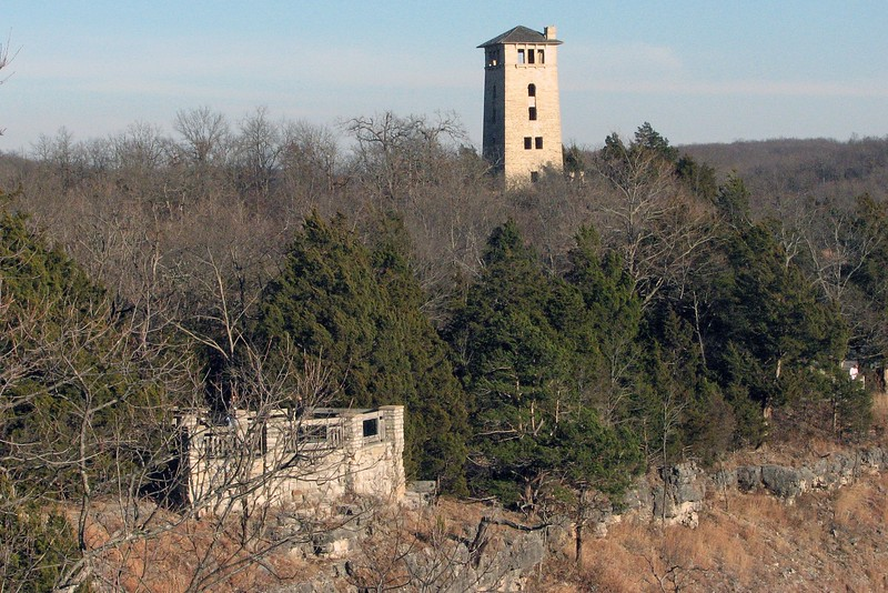 The Water Tower was visible from the front porch area, as was one of the overlooks from the walking trail.