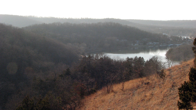Looking back toward the Lake of the Ozarks from the Water Tower trail.