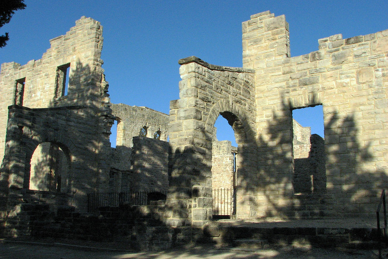 An observation platform has been built next to the castle that overlooks the lake.  The photo above looks back at the side of the castle from the path to the observation deck.