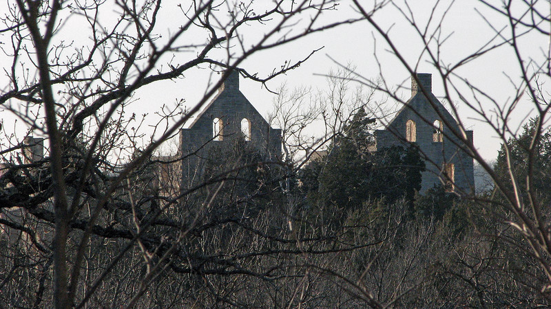 With no leaves on the trees, the castle was also visible from the water tower.