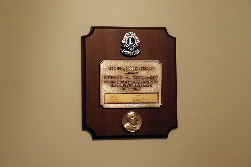 My dad's Melvin Jones Fellow award from the Lakemont Lions Club in Altoona, Pennsylvania.