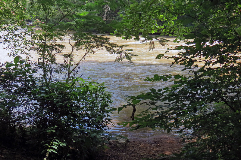 After slipping and sliding on the rather steep and somewhat loose surface of the trail, we had arrived at the North Oconee River.