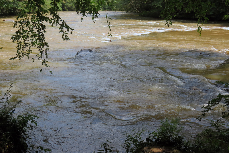 The photo above looks downstream heading south.