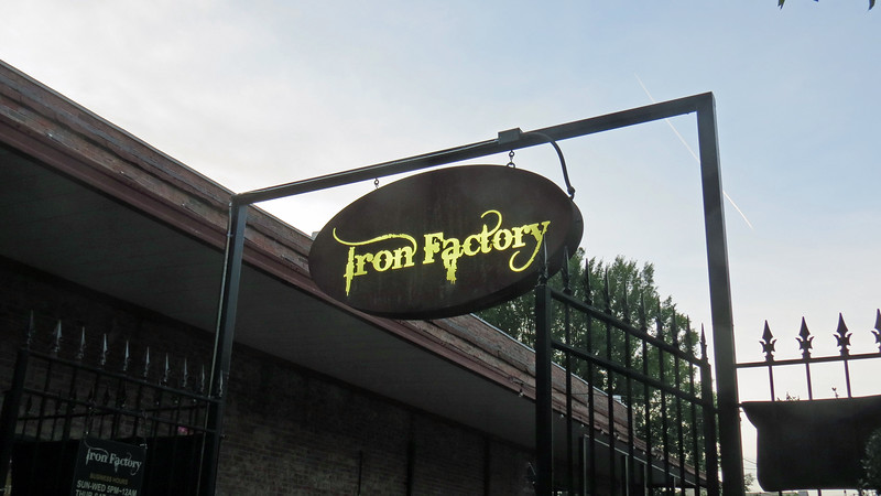 We detoured into the Iron Factory to take a breather.