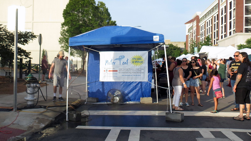 We spotted another cooling station, which made sense given that this was Athens in late June.