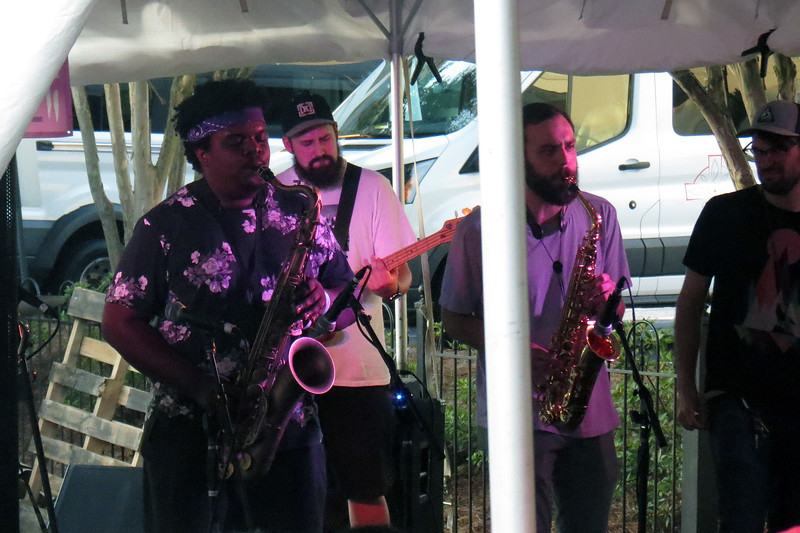Misnomer is a local 9-piece instrumental group that is fronted by a great horn section.
