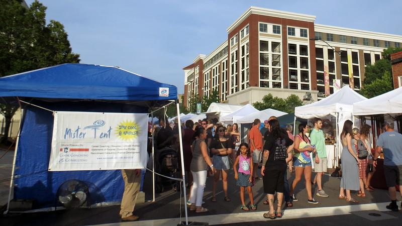 Various vendors were set up all along Washington Street.