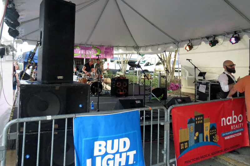 We passed by the Hull Street Stage to find another band preparing for their set.