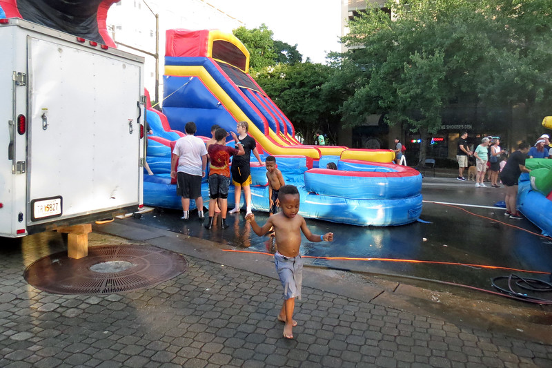 The kids area featured all of the usual fun things for hot weather.
