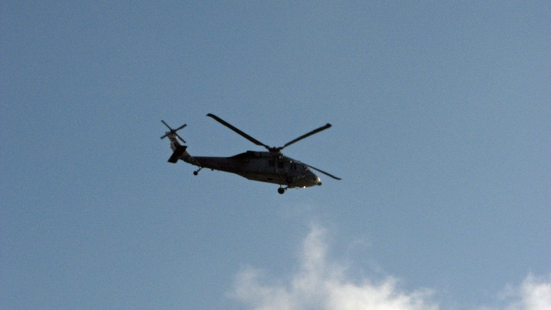I headed out of the hotel toward the marina to be greeted by the sound of a helicopter overhead.