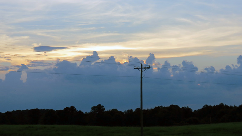 Looking west toward the sunset from US Route 441.