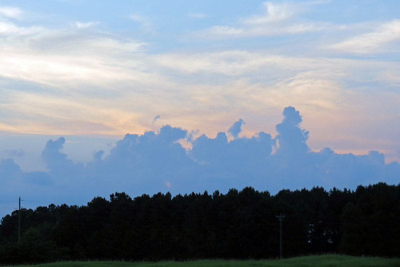 Looking north toward the clouds in front of us along US Route 441.