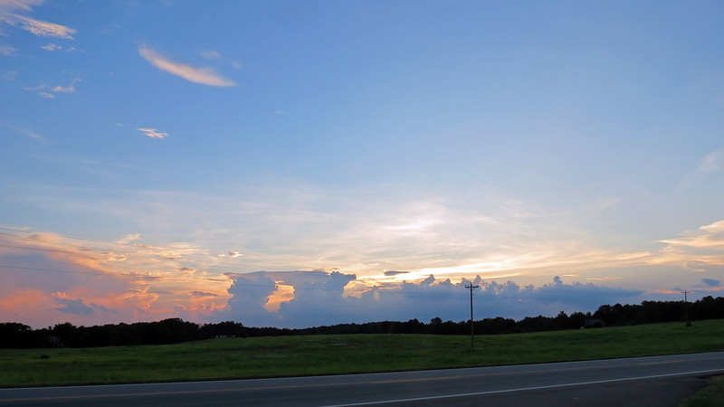 Great clouds and sunset along US Route 441.