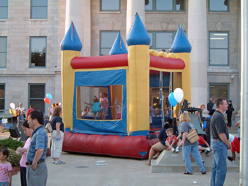 Several kids activities were set up at the courthouse.