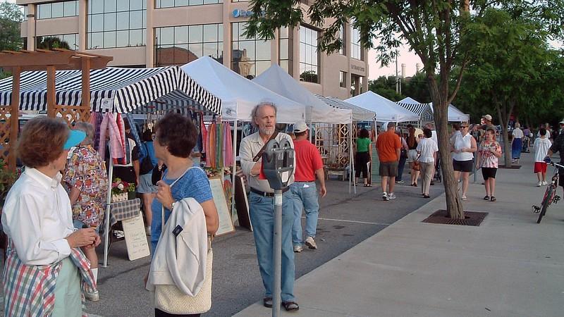 Lots of Columbia Farmer's Market vendors.