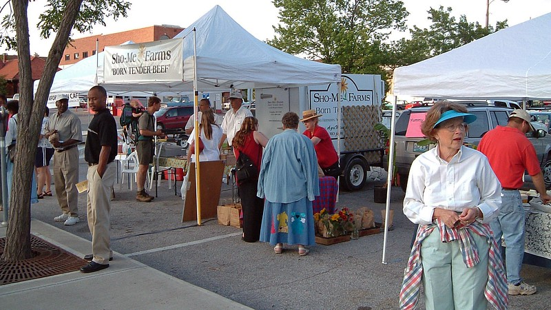 The Columbia Farmer's Market also had a display at Flat Branch Park.