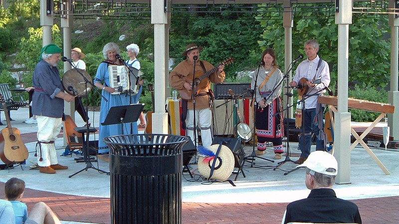 Live music at Flat Branch Park.