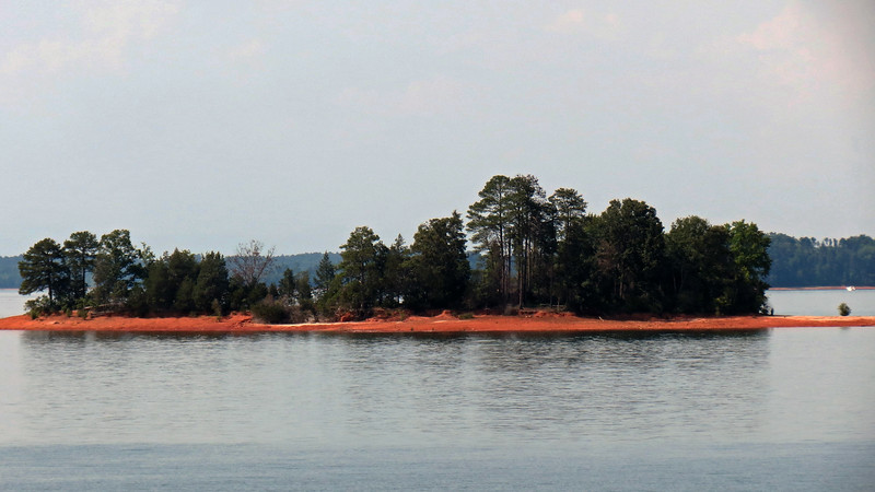 Another small island visible from the Dam Overlook side of the lake.
