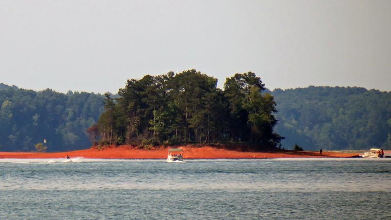 Small island on Lake Hartwell.