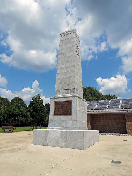 Visitors to the Battlefield are greeted by the U. S. Memorial Monument that pays tribute to the events of that day roughly 240 years ago.