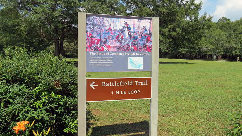 We spent some time checking out the Visitor Center before heading out onto the Battlefield walking trail.  Only part of the trail is paved.