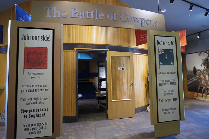 "Once inside the lobby area of the Visitor Center, visitors are asked to ""Join our side !""  I believe the small room seen in the photo above contains an animated map presentation of the Battle."