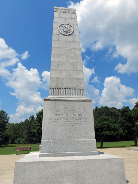 The Battle of Cowpens took place on the field at this site on January 17, 1781 and is regarded as the turning point of the Revolutionary War in the South.
