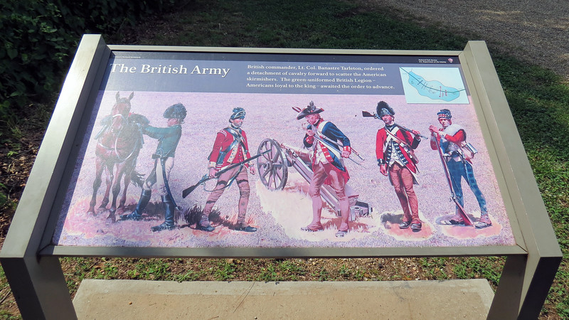 The next marker provided some information about the British forces.