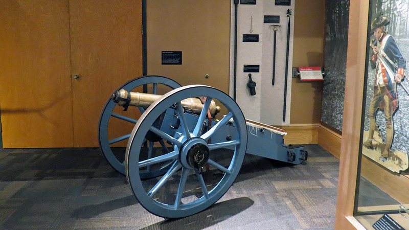 "A replica of the ""3-Pounder""  or ""Grasshopper"" cannon used by the British forces was on display.  The British used two of these cannons, both of which were captured by Patriot forces during the Battle."