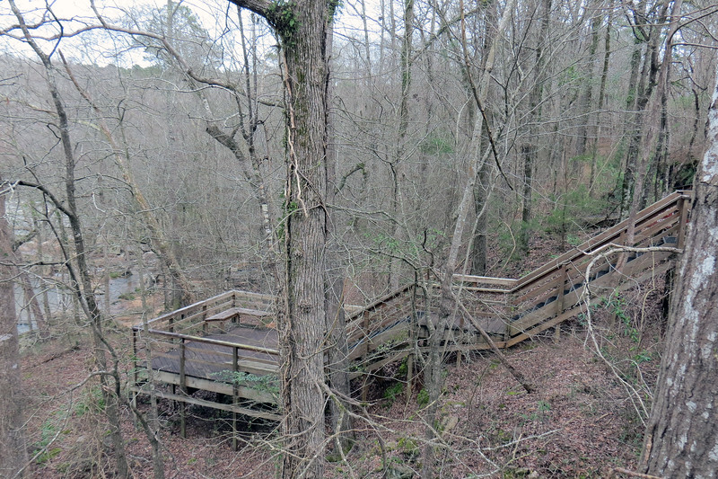 We would be heading down the steps toward the Bottomland Trail to get a few shots of the river.