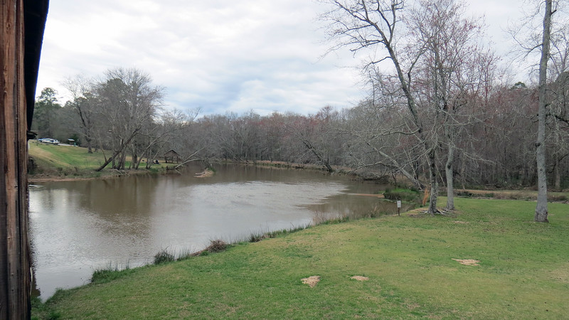 Looking upstream from the Madison County side of the bridge.