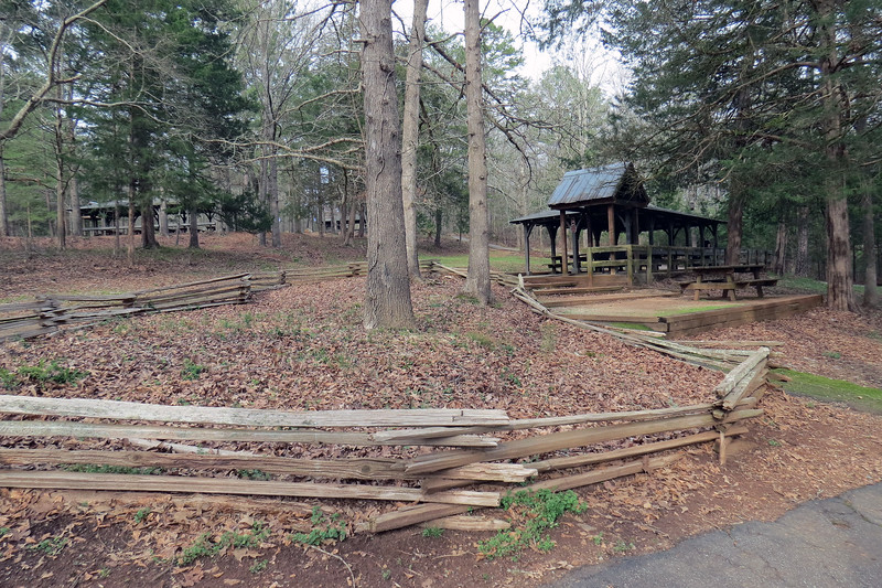 A picnic area sits on the Madison County side of the river.