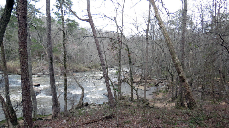 The photo above looks downstream at the South Fork of the Broad River.