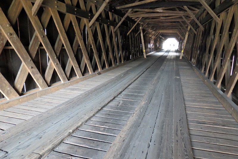 The Watson Mill Covered Bridge is a Town Lattice truss design.