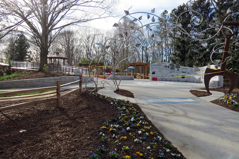 The Alice H. Richards Children's Garden is a 2.5 acre interactive outdoor classroom disguised as a playground that is geared toward children.
