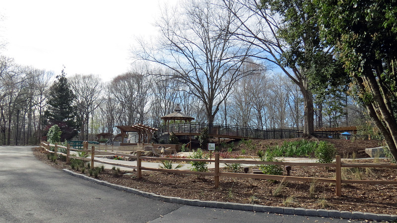 The walking trail back to the parking area took us past the new Alice H. Richards Children's Garden.