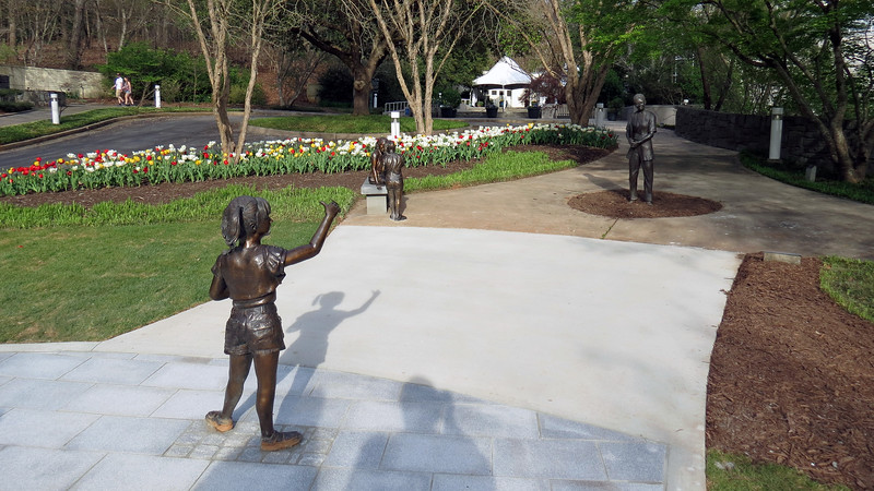 The sculptures of the Garden of Imagination sit next to the Richards Garden.