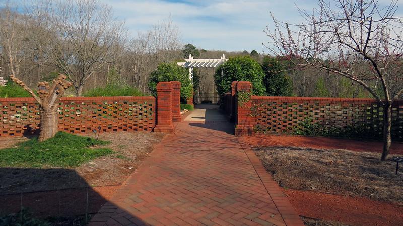 Walking through the Heritage Garden.