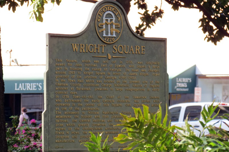 We continued walking south through Wright Square.