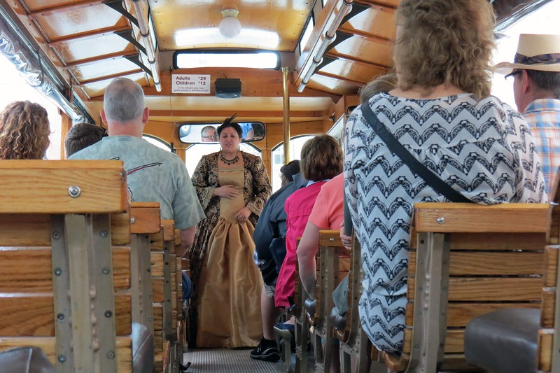 I met some old friends in Savannah, Georgia and took a trolley tour of the Historic District.  Period characters would board the trolley at various stops to speak about a particular topic in Savannah's history.