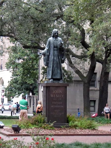 John Wesley Monument in Reynolds Square.