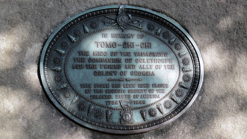Monument for Tomo-Chi-Chi at Wright Square.