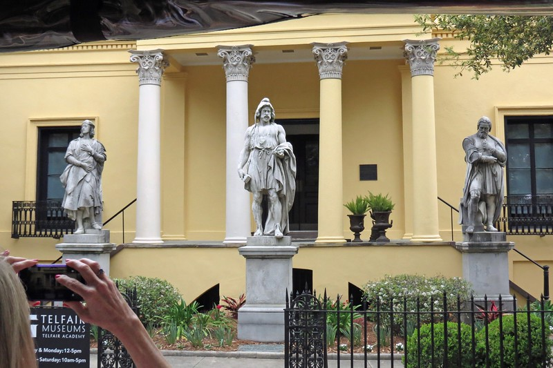 The Telfair Museum resides in the former home of Alexander Telfair.  Upon his death, the home was willed to his sisters.  Mary Telfair deeded the home to the city to establish an art museum.