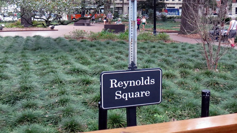 Reynolds Square from 1734.  The name Reynolds refers to John Reynolds, the first colonial governor of Georgia.