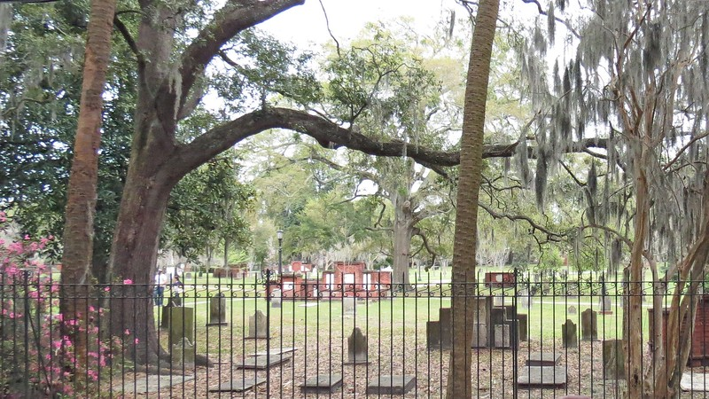 The Colonial Park Cemetery was originally established around 1750 as a burial ground for the Christ Church Parish.  The cemetery was enlarged in 1789 to become a final resting place for people of all denominations.