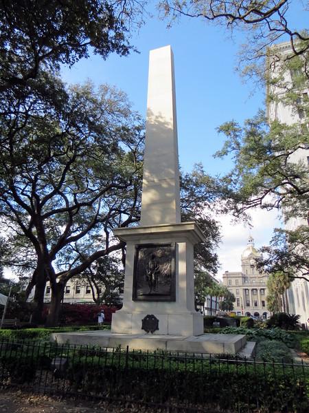 Nathanael Greene Monument in Johnson Square.