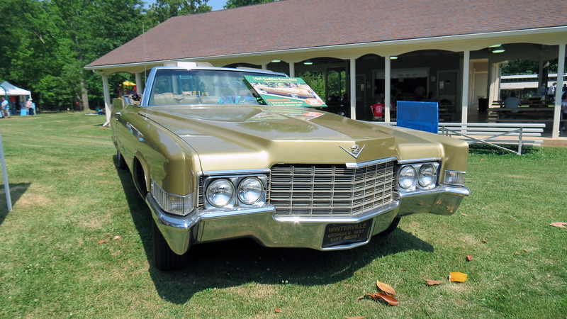 Parked next to the pavilion was the city's 1969 Cadillac Deville convertible.