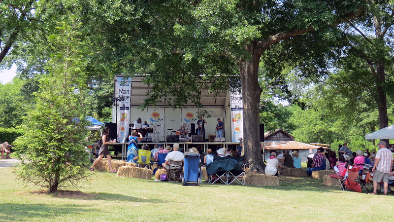 The Marigold Festival always features an array of live music.  This year's event had 10 bands on the schedule for today.