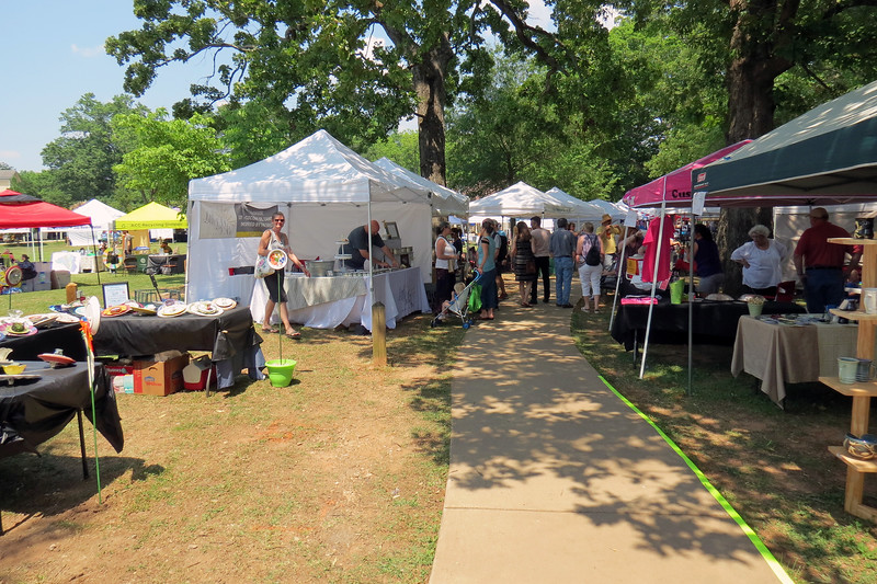 Arts and Crafts vendors lined the walkway to Pittard Park.